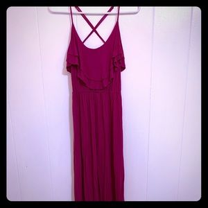 Forever21 Hot Pink Long Maxi Dress